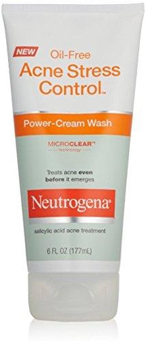 Neutrogena Acne Stress Control Oil-Free Power-Cream Wash 6 oz (Pack of 6)