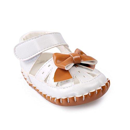 Janly Baby Mädchen Leder Bowtie Sandalen Schuhe Kleinkind Ersten Wanderer Braun