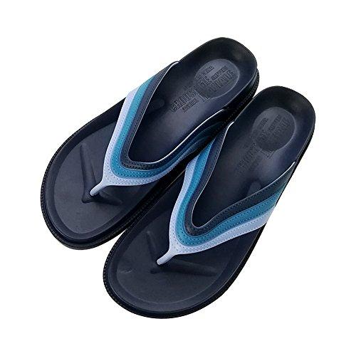 MStar Sommer Unisex-Erwachsene Pantoletten verschleißfest Hausschuh Flip Flops Zehentrenner in 3 Farben Blau