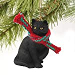 Conversation Concepts Black Shorthaired Tabby Cat Original Ornament