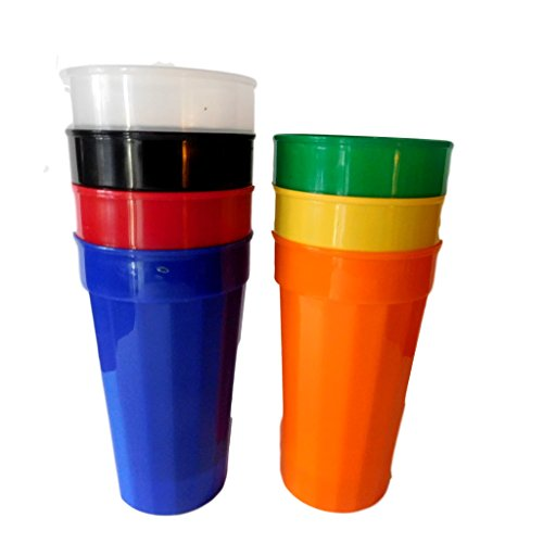 7 Large 32 Oz Tumblers Red Orange Green