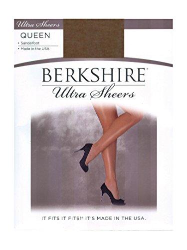 Berkshire Women's Plus-Size Queen Ultra Sheer Non-Control Top Pantyhose - Sandalfoot, Utopia, 5X-6X