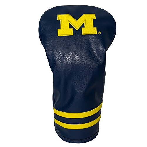 NCAA Michigan Wolverines Vintage Driver Head Cover (Michigan Driver Headcover Wolverines)