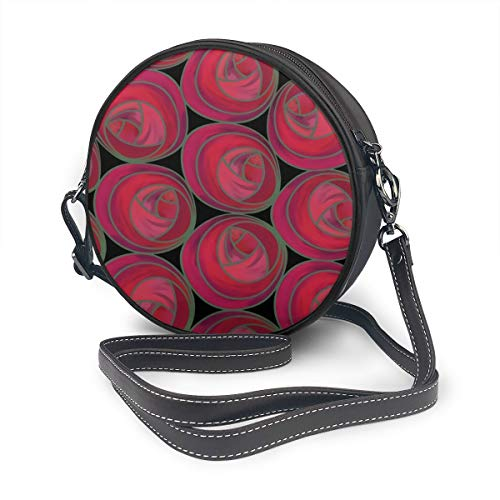 Mackintosh Rose Pink - Jhgsjnsf Mackintosh Style Roses Pattern In Pink And Red Shoulder Bags Leather Strap Bag,backpack For Women - Waterproof Leather Shoulder Strap For Travel,commuting And Hiking