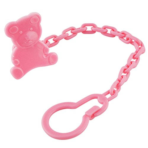 - Set Of 2 Baby Pacifier Leashes/Cases Pacifier Clips Pacifier Holder Pink Bear
