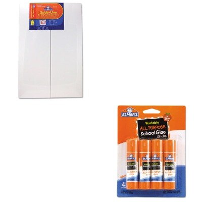 KITEPI905108EPIE542 - Value Kit - Elmer's Guide-Line Foam Display Board (EPI905108) and Elmer's Washable All Purpose School Glue Sticks (EPIE542) by Elmer's
