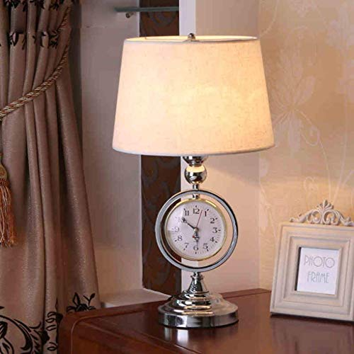 DEED Table Lamp-Personality Simple European Creative Bedside Lamp Bedroom Lamp Retro Watches Den Iron Lamps Reading Night Light