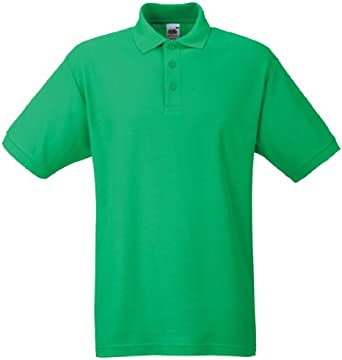 Fruit of the Loom SS033M-Polo Hombre Verde Verde (Kelly Green) XX ...