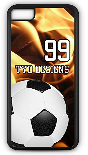 iPhone 6 Plus 6+ Case Create Your Own Soccer Far Post Player Number Name Team Name Customizable TYD Designs in Black ()