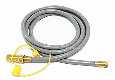 Hongso HRTA1-3 Natural Gas Quick Connect Hose with Quick Connect Fitting for outdoor grill propane tanks, 10 - Natural Gas Grill Regulator