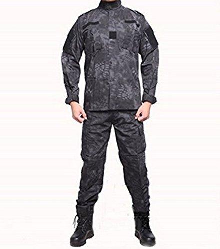 Lce God Outdoor Black Python Pattern Tactical Suit, Battl...