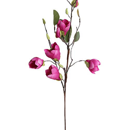 - XNKLH New Artificial Artificial Silk Magnolia Flower Leaf Magnolia Flower (Pink)