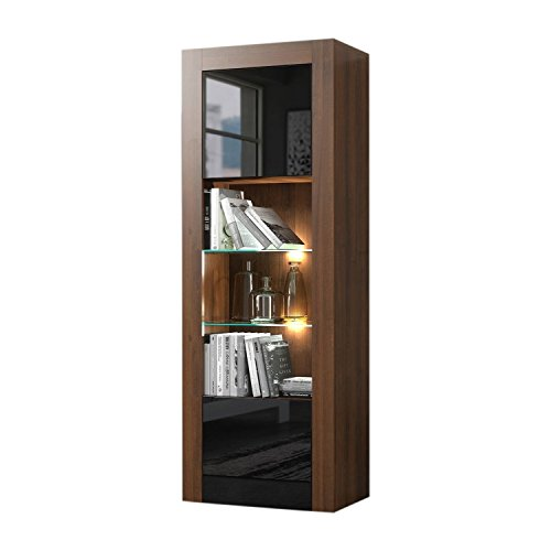 Milano Bookcase Matte Body & High Gloss Fronts ()