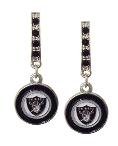 NFL Oakland Raiders Bar Post Earrings