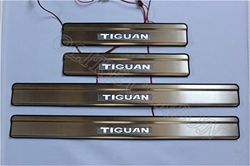 OLIKE For Volkswagen Vw Tiguan 2009-2015 Car Door Sill Scuff Plate Guard Entry Door Guard Sills With Led