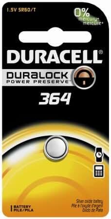 Duracell D364BPK Watch / Electronic Battery, 1.5 Volt Silver Oxide