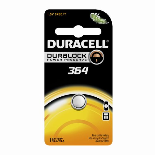 Duracell D364BPK Watch / Electronic Battery, 1.5 Volt Silver Oxide