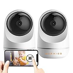 DophiGo 1080P Dome 360 Wireless Baby Mon...