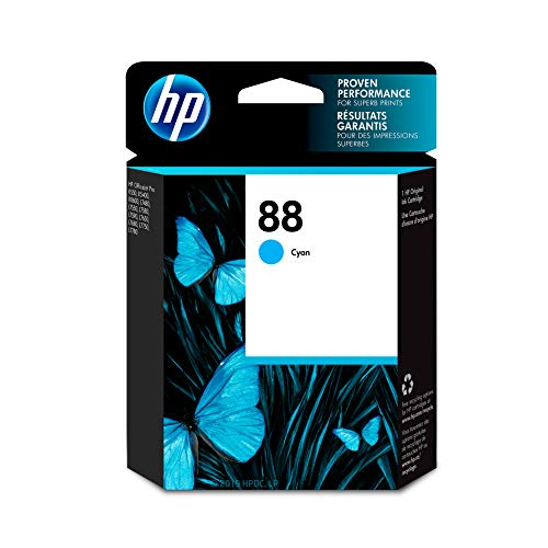 HP 88 Cyan Ink Cartridge (C9386AN) for HP Officejet Pro K5400 K550 K8600 L7580 L7590 L7680 L7780 DISCONTINUED BY - Color Pro Officejet L7580