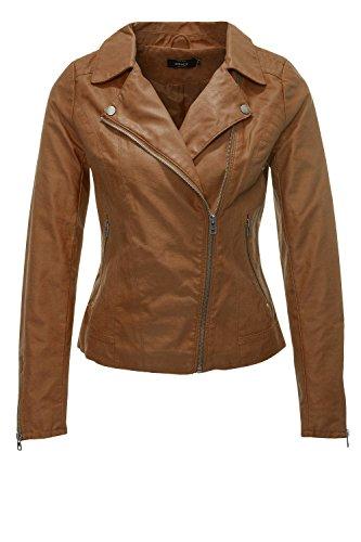 Leather OTW Biker Faux Onlsaga Blouson Only CC Cognac Femme HwEUTaxq