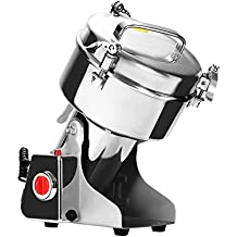Happybuy Grain Grinder 1000g Mill Powder Machine Swing Type Commercial Electric Grain Mill Grinder for Herb Pulverizer Food Grade Stainless Steel (1000g)