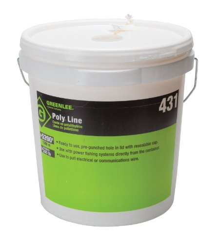 Greenlee Textron 431 Poly Tracer Fish Line  6500 Feet  Yellow