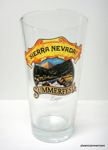 (Sierra Nevada Brewing Company Chico California Summerfest Lager Beer Pint Glass)