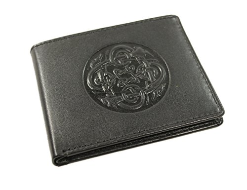 Irish Leather Wallet Black Celtic Wolf Hound Design Ireland Made by Biddy Murphy (Image #6)