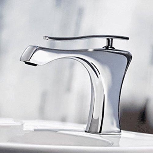 Accesorios de baño Good quality Grifo Mezclador Lavabo Antiguo Lavabo del baño de Cobre Grifo Grifo Creativo Grifo de Mezcla de Agua Caliente y fría Negro