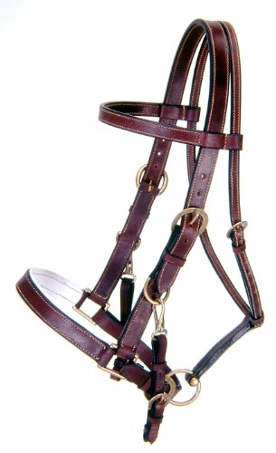 Tough 1 Australian Outrider Collection Leather Bridle/Halter, Black ()