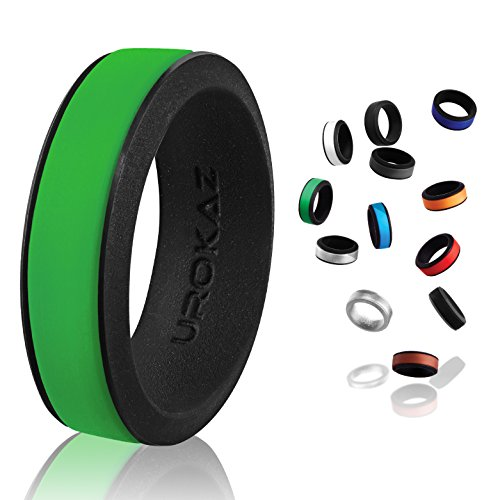 UROKAZ - Silicone Wedding Ring, The Only Ring That Fits Your Lifestyle - Whether You are Single or Married, Ring is Right for You - It is Fashionable, Flexible, and - Ring Jade Mens Green