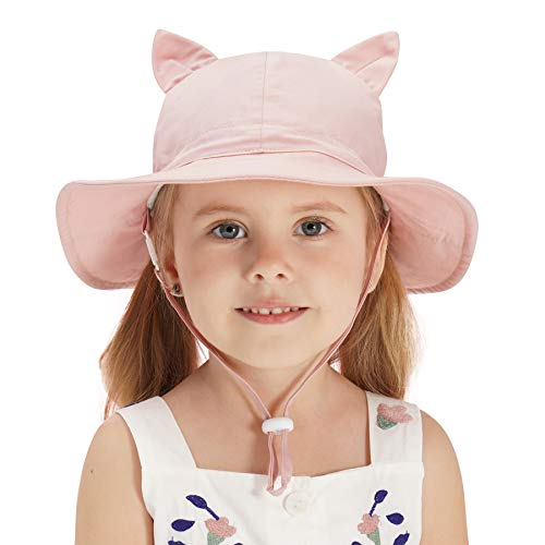 - Home Prefer Kids Girls UV Sun Protection Hat UPF 50+ Bucket Sun Hat Summer Swim Hat Pink #56