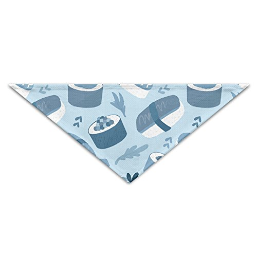 YLJ Sushi Salmon Blue Pet Scraf Accessories Adjustable Triangle Dog Cat Bandana Scarf Collar Neckerchief - Salmon Sushi Costume