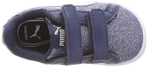 Puma Smash Glitz Glamm V Inf, Zapatillas Unisex Niños Azul (Sargasso Sea-pearl)