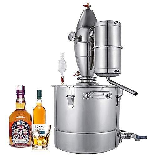 Seeutek 18.5Gal 70L Moonshine Still Water Alcohol Distiller Spirits Kit Home Brew Wine Making Kit 304 Stainless Steel Oil Boiler