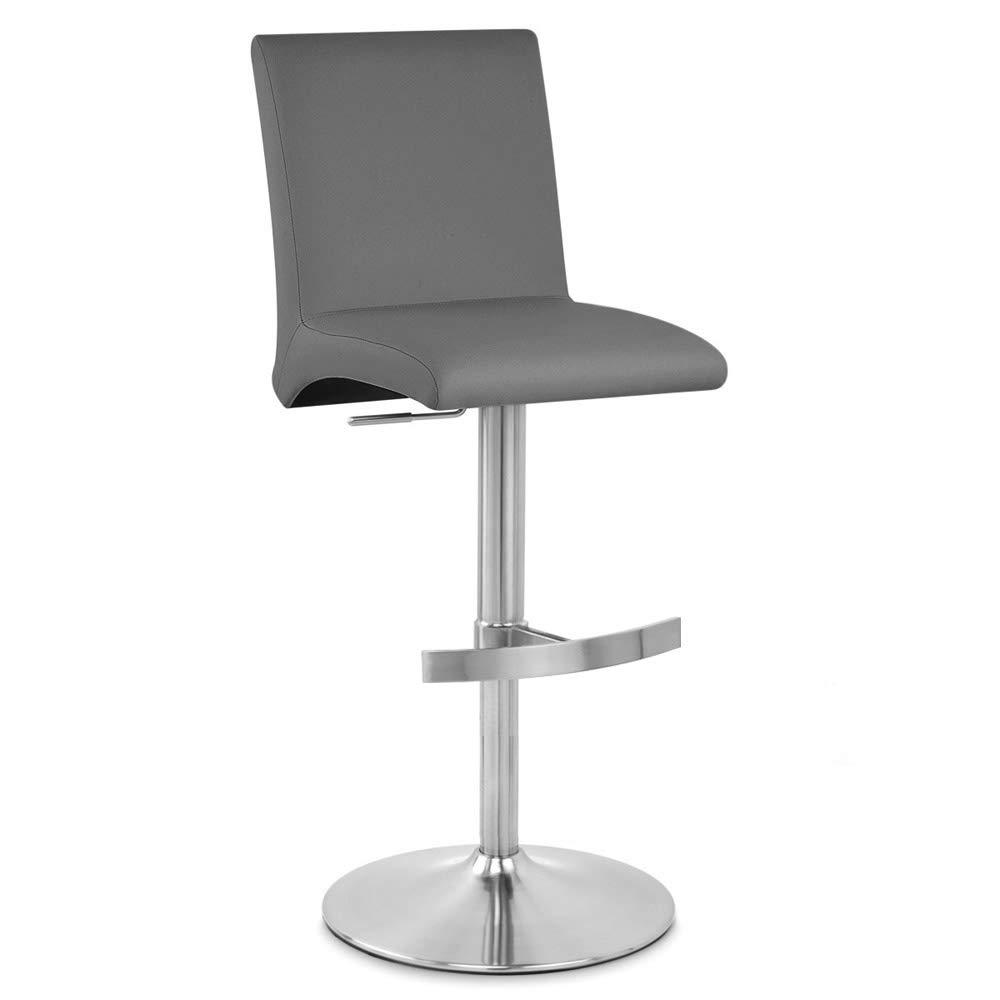 Zuri Furniture Modern Coveteur Adjustable Height Swivel Bar Stool in Slate Grey by Zuri Furniture