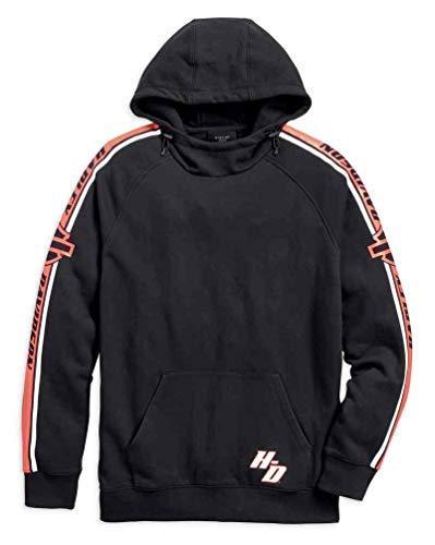 - Harley-Davidson Men's B&S Sleeve Stripe Pullover Hoodie, Black 96135-18VM (M)