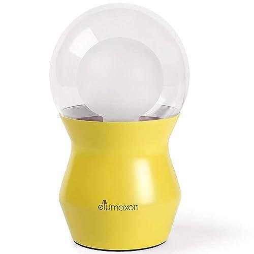 Tibbs Yellow Nightstand Lamp Bedside Table Lamp Kids Desk Lamp for Bedroom for Living Room, 6.5 H