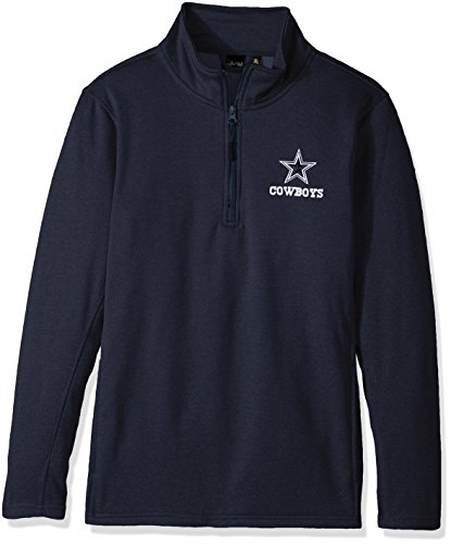 Dunbrooke Apparel NFL Dallas Cowboys Unisex All Starall Star Tech Fleece 1/4 Zip, Navy, Small