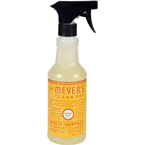 (Mrs. Meyer's Multi-Surface Cleaner Orange Clove 16 OZ (Pack of 4))