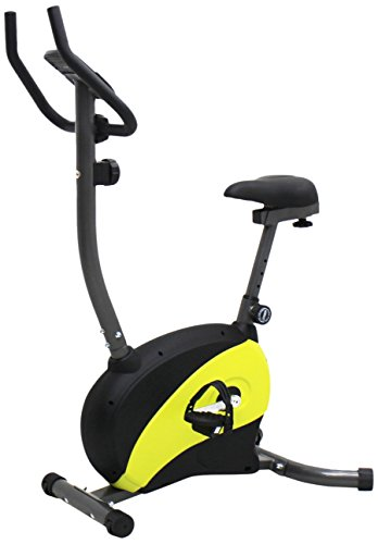iLIVING Magnetic Upright Bike with Adjustable Seat, Yellow