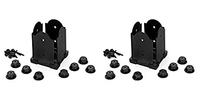 "OZCO Ornamental Wood Ties 4"" x 4'' Laredo Sunset Post Base Hardware Kit 2-Pack"