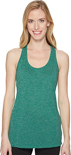Under Armour Women's Tech Twist Tank, Birdie Green (508)/Metallic Silver, Large