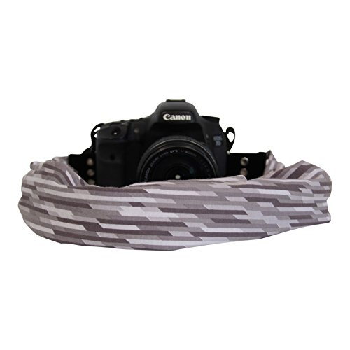 Scarf Camera Strap with Hidden Pocket (Raffia Grey)
