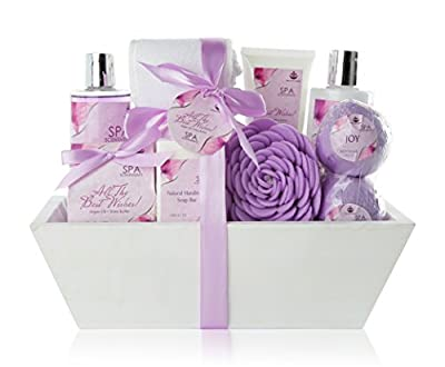 premium large spa basket all the best wishes gift basket for women bath body 10 piece gift set best christmas gift for women with bath bombs