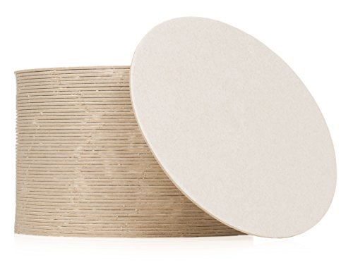 Plain White Coasters, 50 (Cardboard Circles)