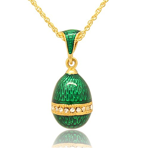 MYD Jewelry Hand Enamel Jewelry Faberge Egg Charm for for sale  Delivered anywhere in USA