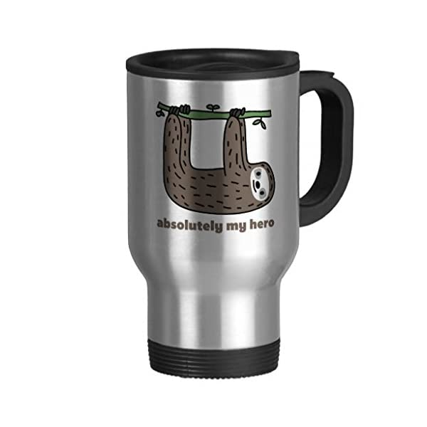 Travel Mug With Handle Unique Sloth The Hero Travel Mugs For Men Coffee Cup For Mom Dad Friends Christmas Presents -