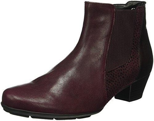 Gabor Shoes Basic, Botines para Mujer Rojo (New Merlot micro)