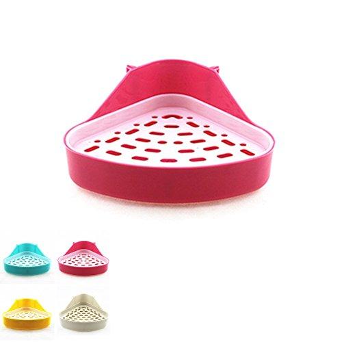 UEETEK Triangle Potty Trainer toilette pour petits animaux Hamster gerbille lapin Chinchilla Guinée furet, taille S (couleur aléatoire)